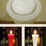 明順寺さんの蝋燭はきれいですね。  (足立区Kさん)