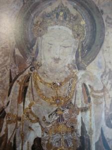 観世音菩薩像(壁画) 『敦煌石窟』より世界文化出版社