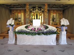 家族葬の祭壇(一例)