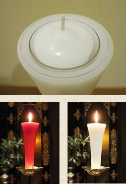 明順寺の蝋燭