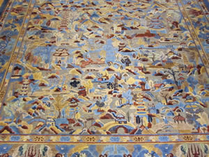 本堂ロビーにある絨毯